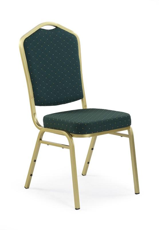 K66 stolička zelená, zlatá