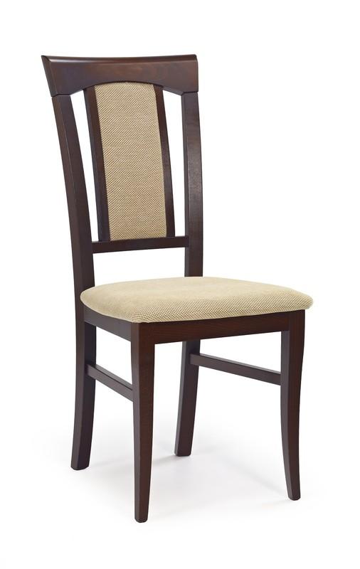 KONRAD stolička tmavý orech / tap: Torent Beige