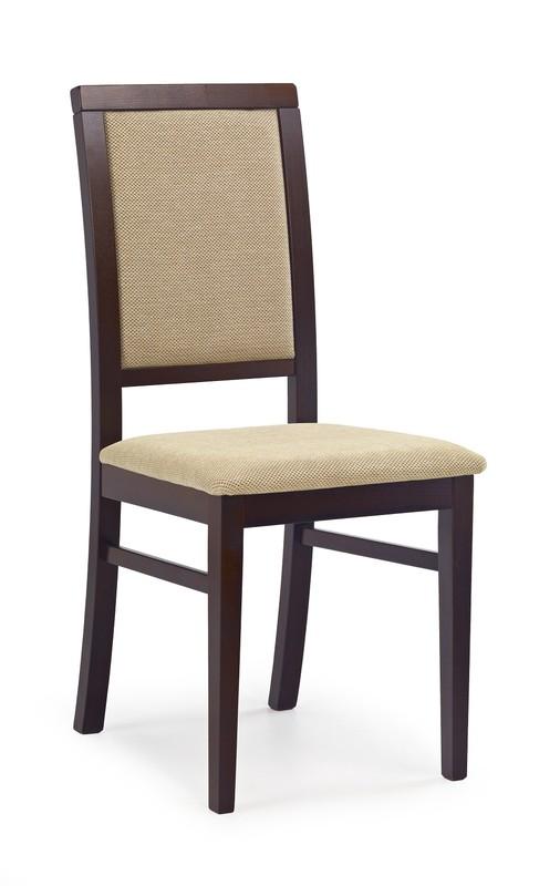 SYLWEK1 stolička tmavý orech, tkanina / tap: Torent Beige