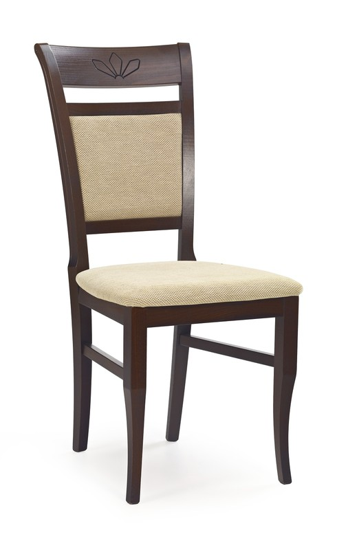 JAKUB stolička tmavo orech / tap: Torent Beige