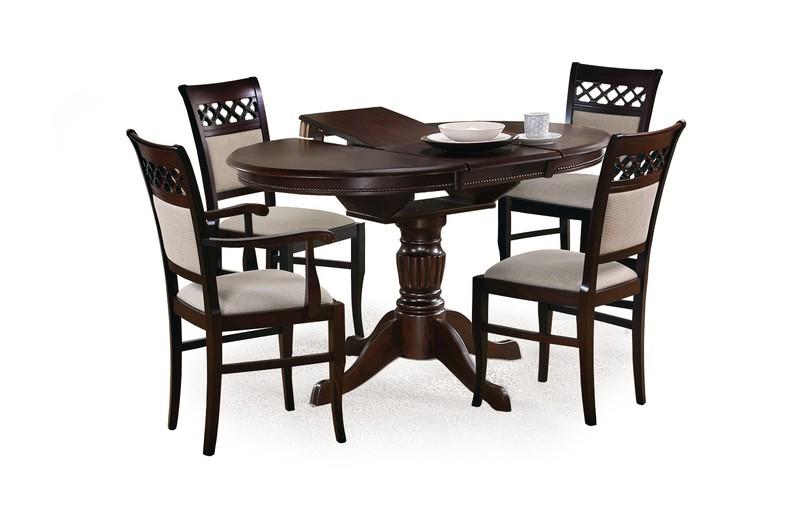 WILLIAM stôl tmavý orech