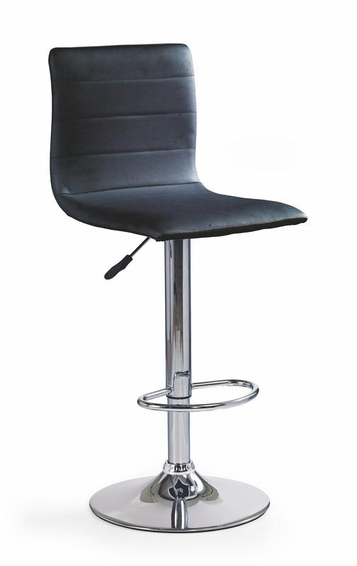 H21 barová stolička čierna