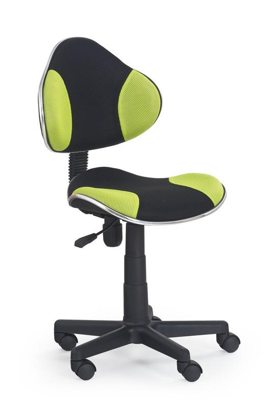 FLASH detská stolička čierno-zelená