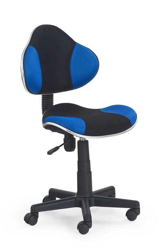 FLASH detská stolička čierno-modrá