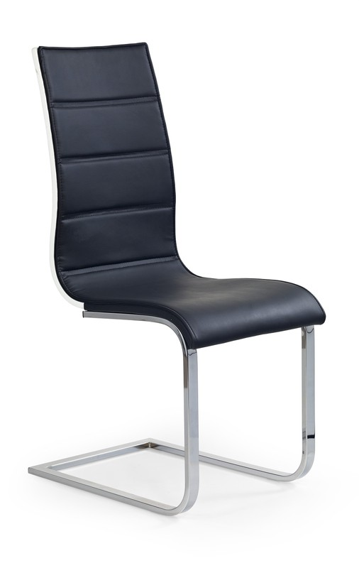 K104 stolička čierna/biela ekokoža