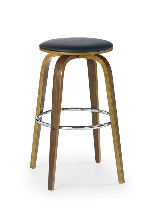 H39 barová stolička orech/čierna