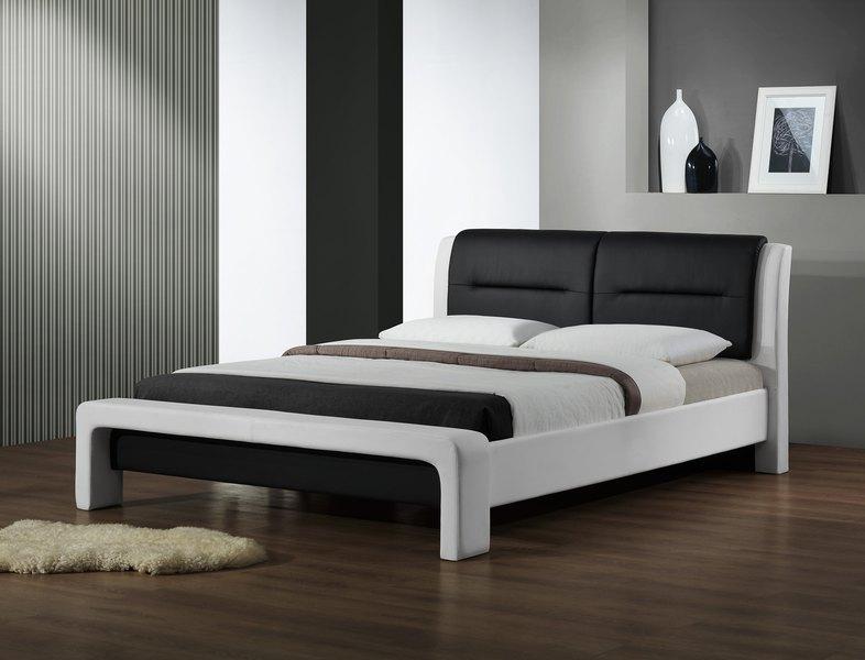 CASSANDRA 160 cm postel bielo-čierna