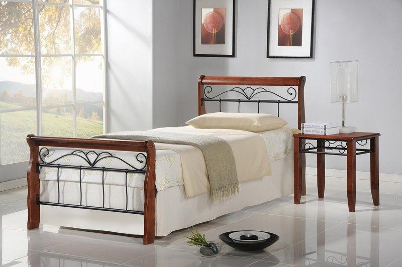 VERONICA postel 90 cm čerešňa ant./čierna
