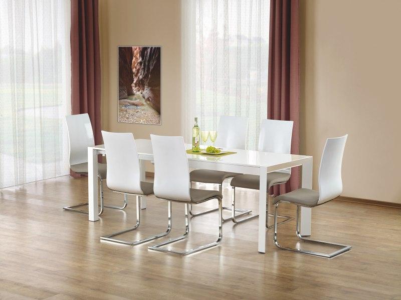 STANFORD stôl rozkladací biely