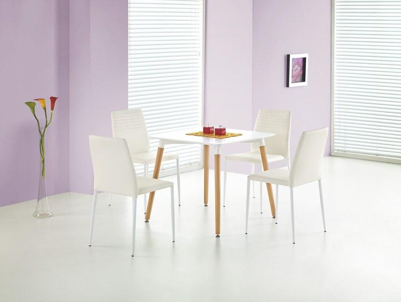 SOCRATES štvorcový stôl biely