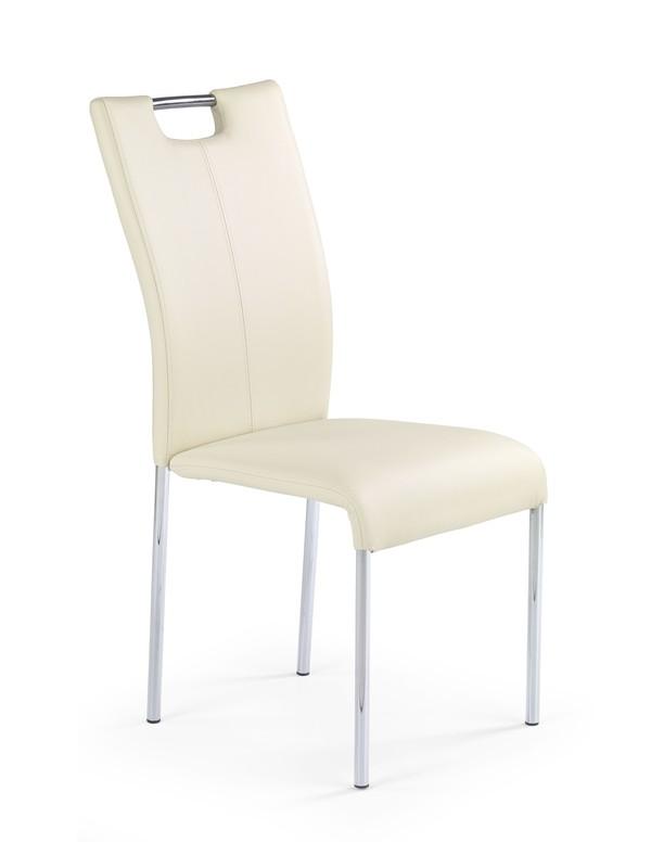 K138 stolička tmavá krem