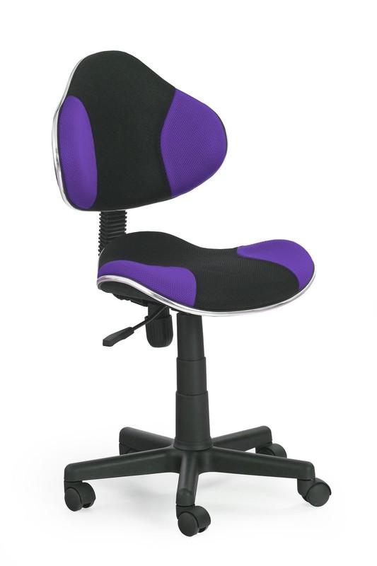 FLASH detská stolička čierno-fialová