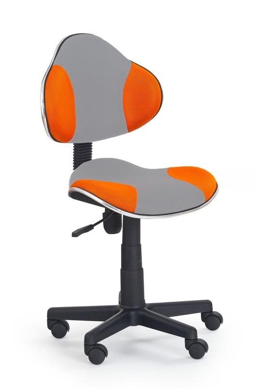 FLASH 2 detská stolička šedo-pomarančová