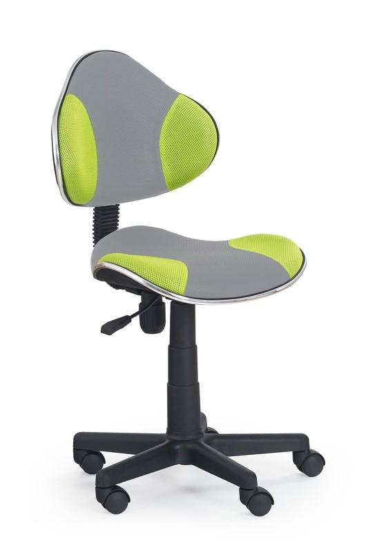 FLASH 2 detská stolička šedo-zelená