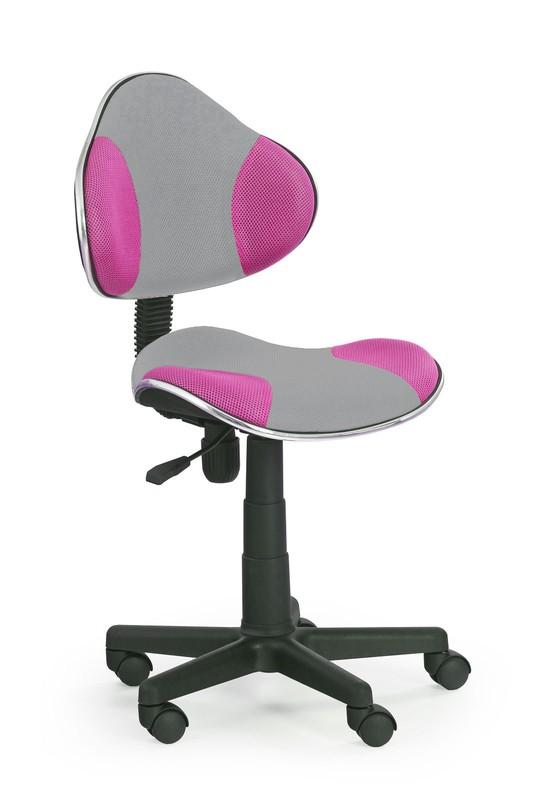 FLASH 2 detská stolička šedo-ružová