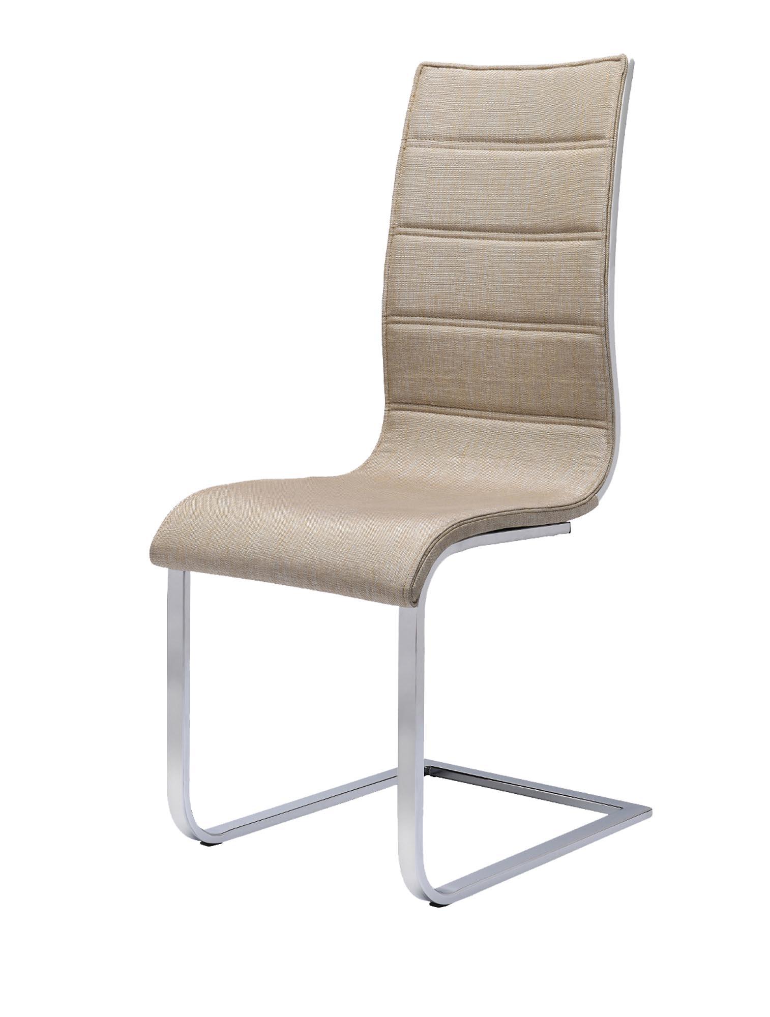 K104 stolička béžová/biela tkanina