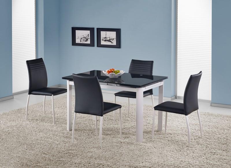 ALSTON stôl čierny/biely