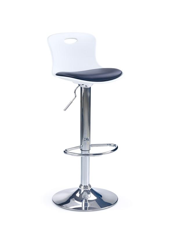 H49 barová stolička čierno-biela