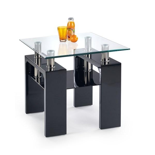 DIANA H štvorcový konferenčný stolík čierny lakovaný