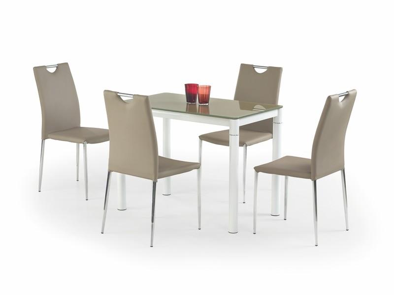 ARGUS stôl béžový/biely
