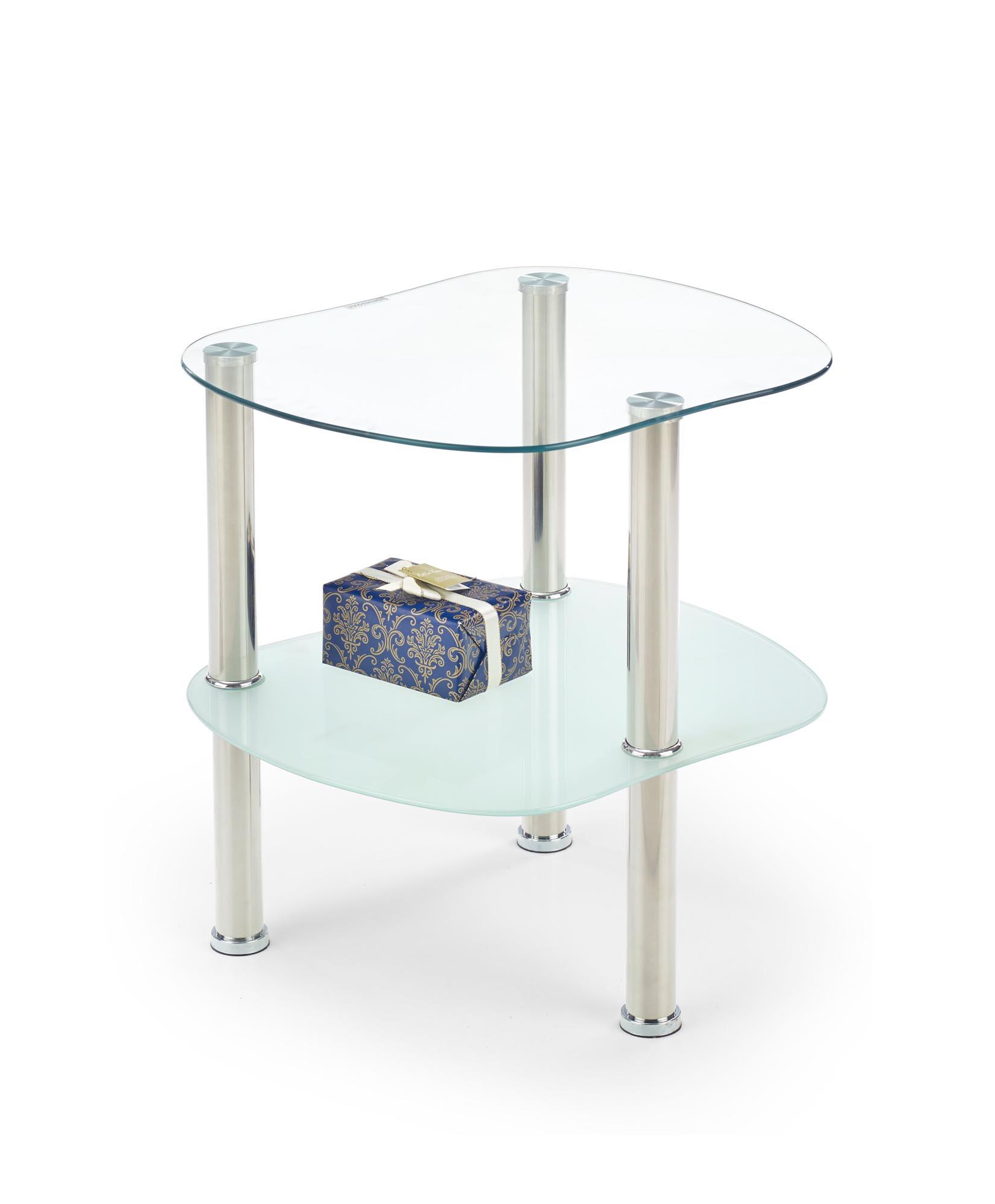 ARYA konferenčný stolík bezfarebný / mliečny