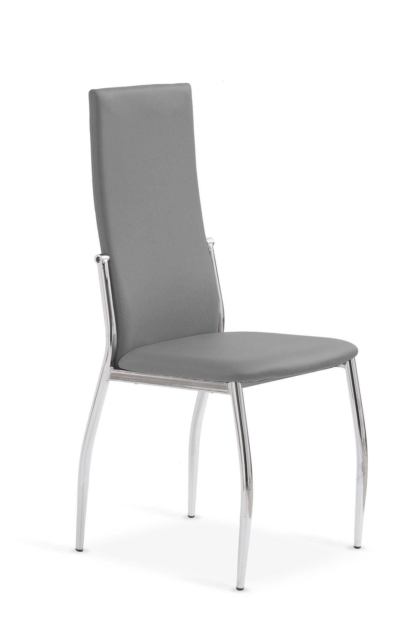 K3 stolička chróm/šedá