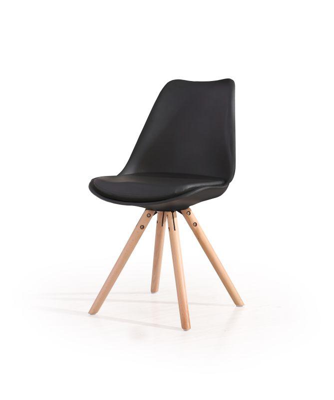 K201 stolička čierna