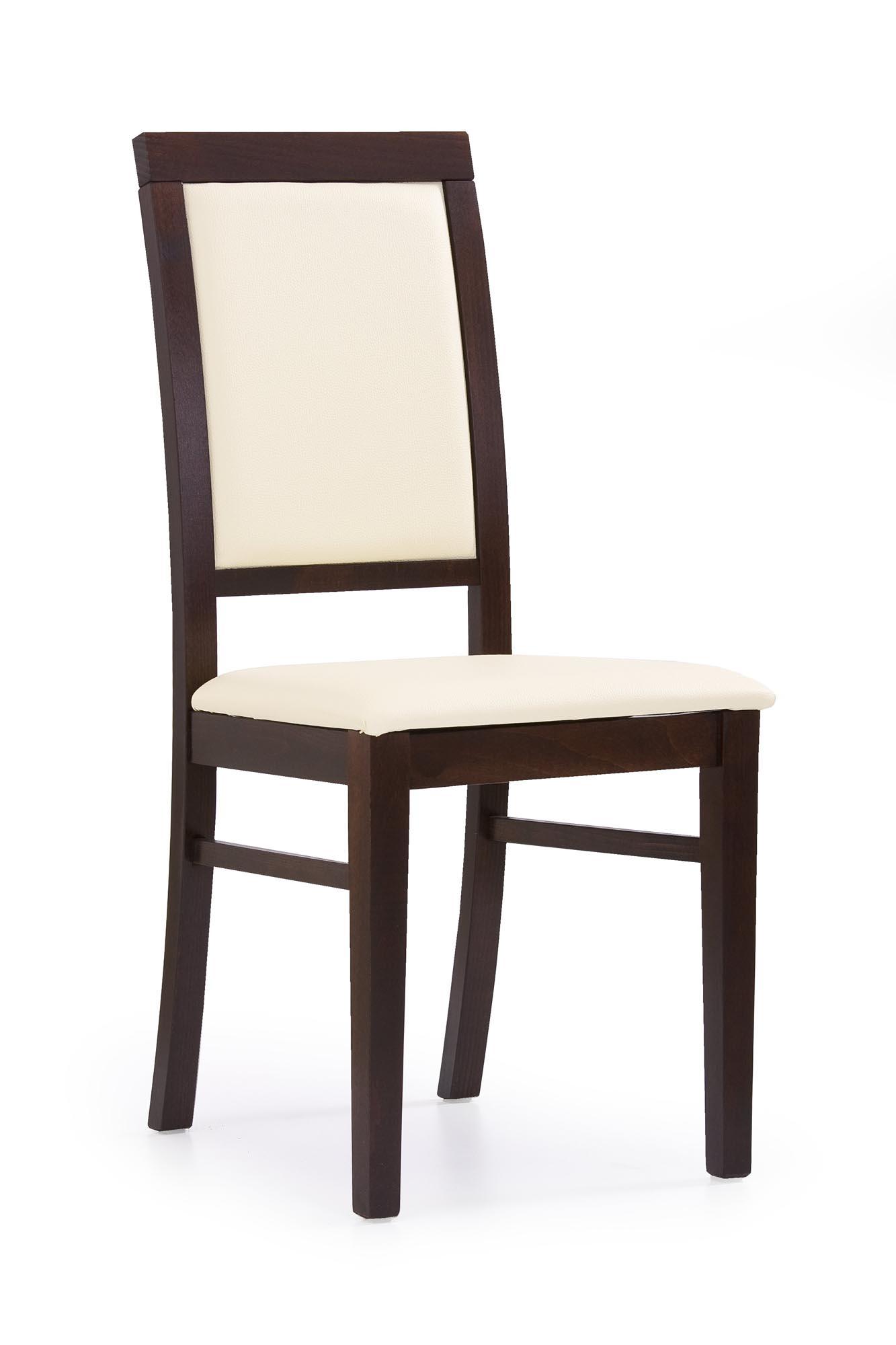 SYLWEK1 stolička tmavý orech, ecokoža /Cayenne 1112