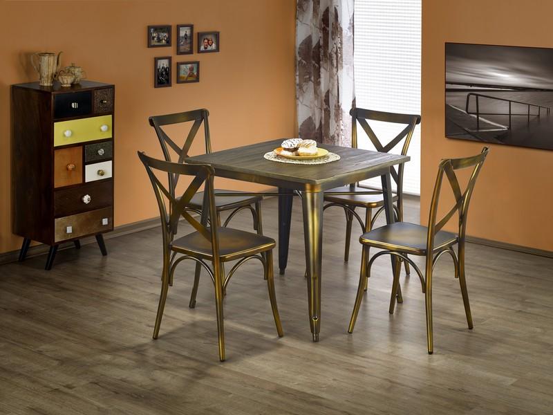 MAGNUM stôl štvorcový yellow cooper