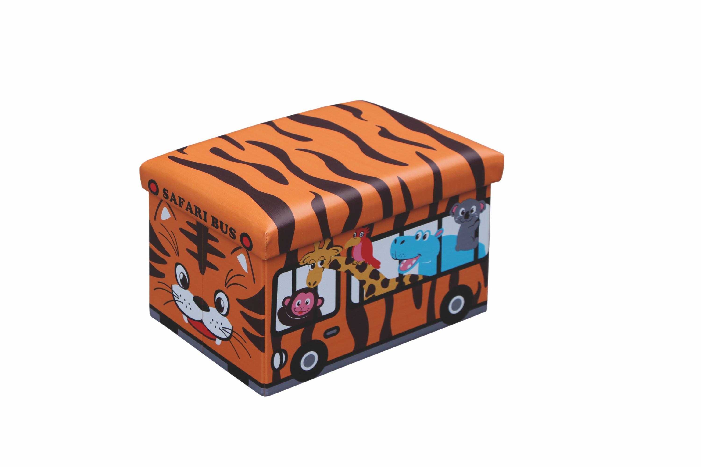 KIRI taburetka pomaranč - tiger