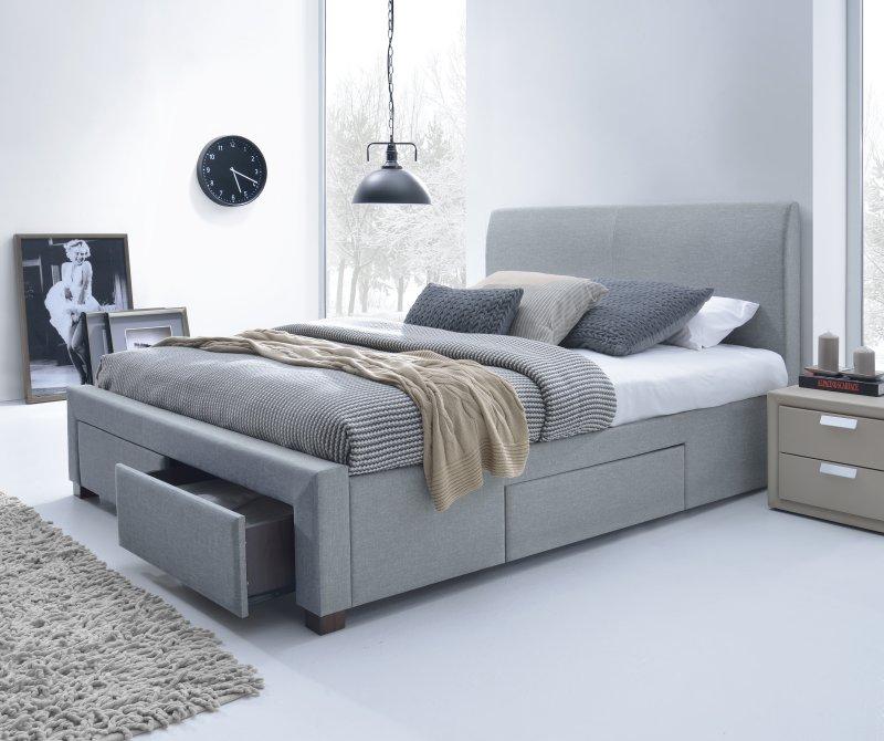 MODENA postel čalúnená šedá