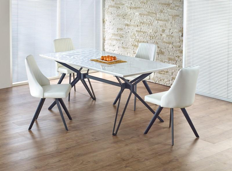 PASCAL stôl bielo - čierny