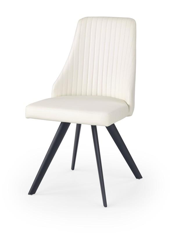 K206 stolička bielo / čierna