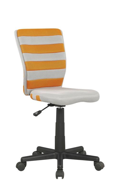 FUEGO detská stolička pomarančovo / šedá