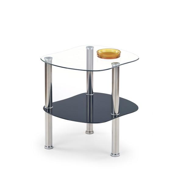 ARYA konferenčný stolík bezfarebný / čierny