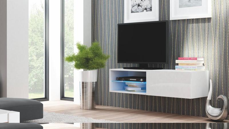 LIVO skrinka RTV 120 závesná biela