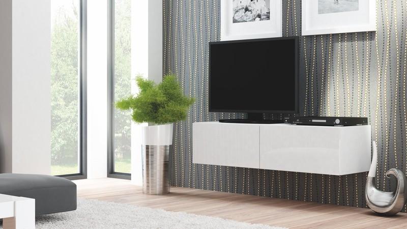LIVO skrinka RTV 160 závesná biela