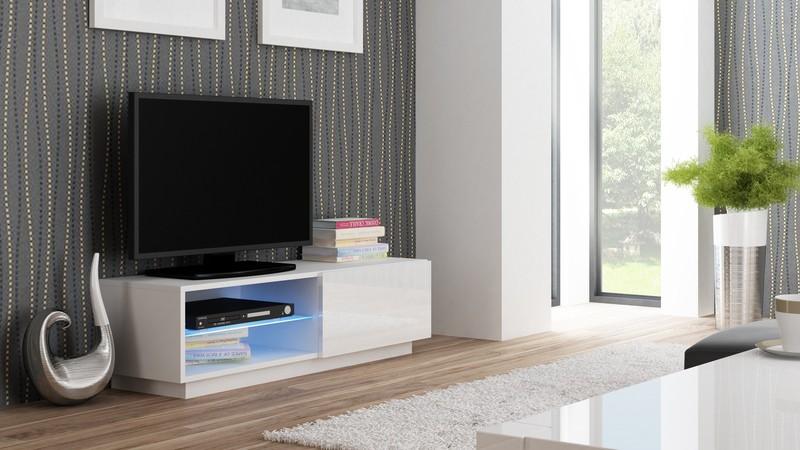 LIVO skrinka RTV 120 stojaca biela