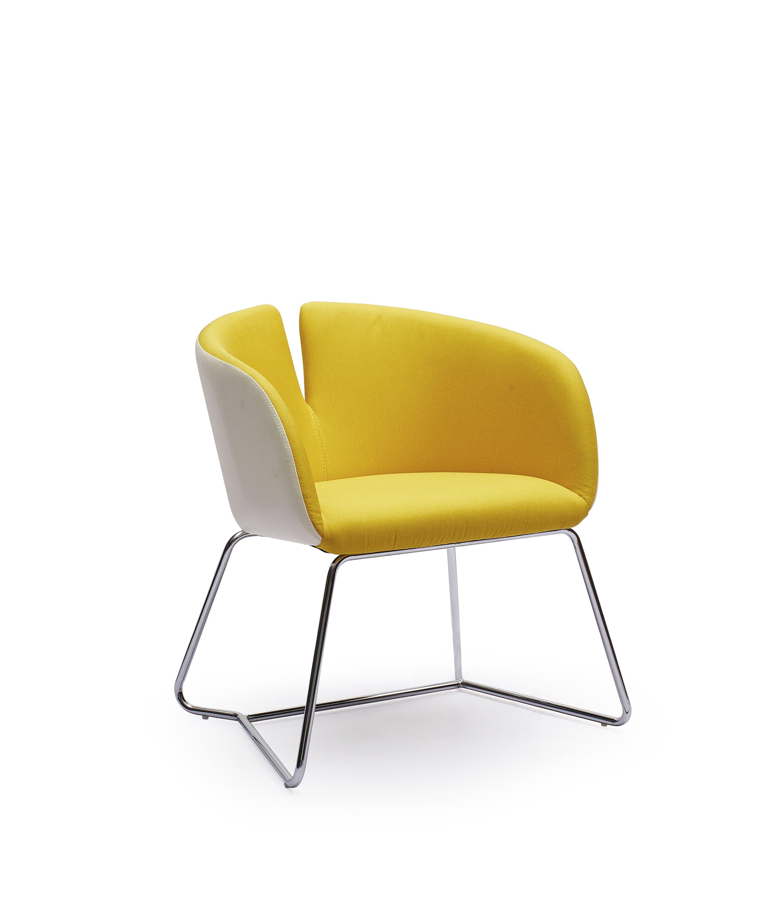 PIVOT stolička žltá