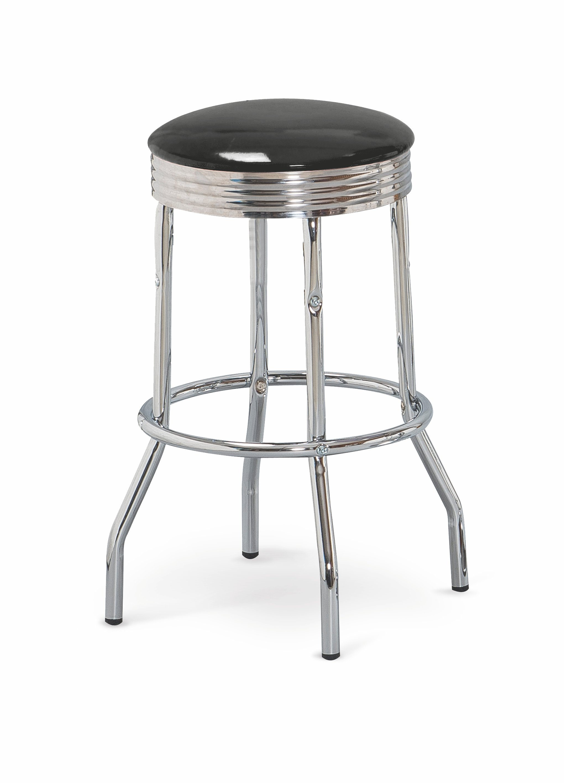 H73 barová stolička čierna