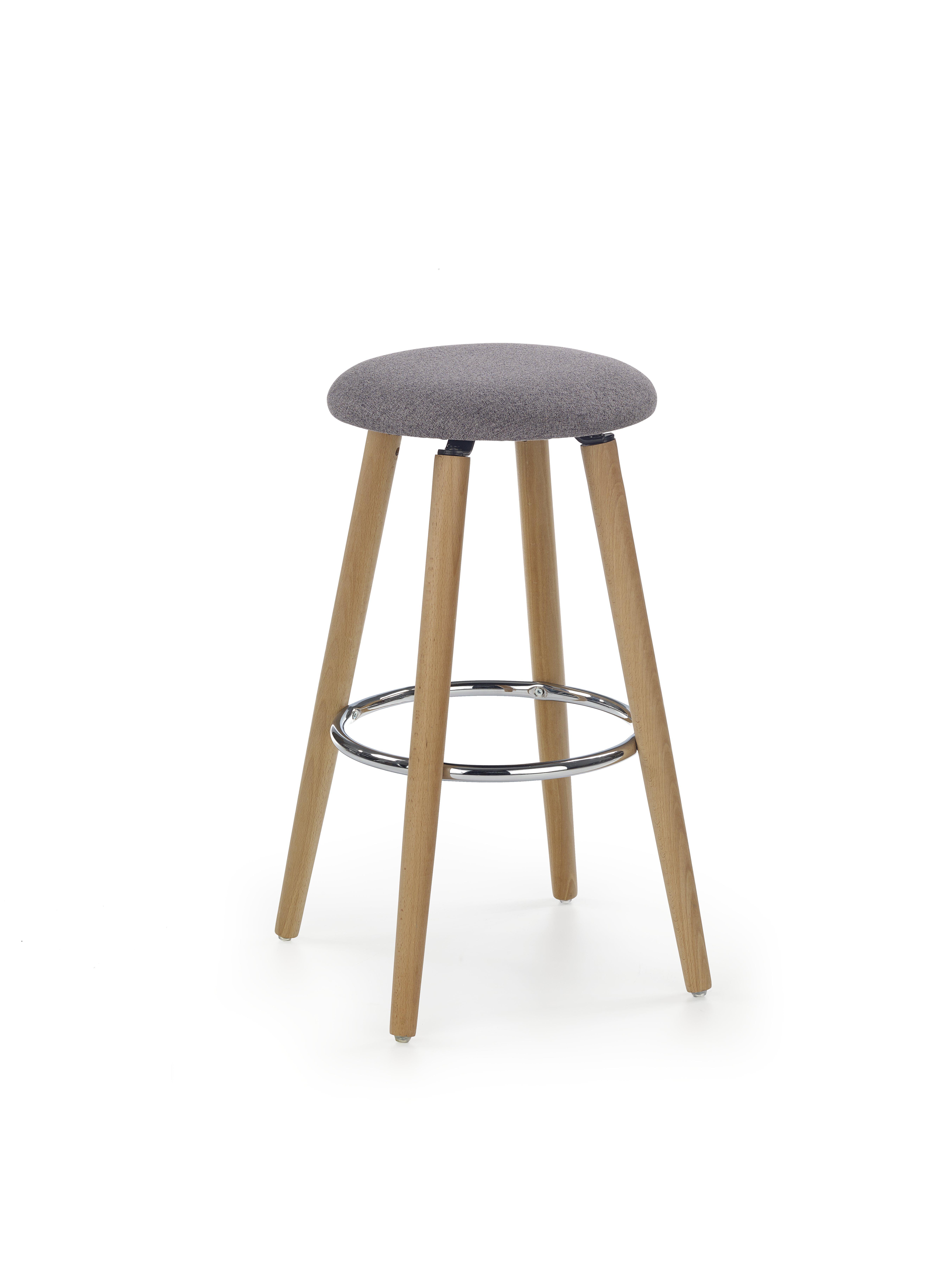 H76 F barová stolička tkanina svetlý šedá