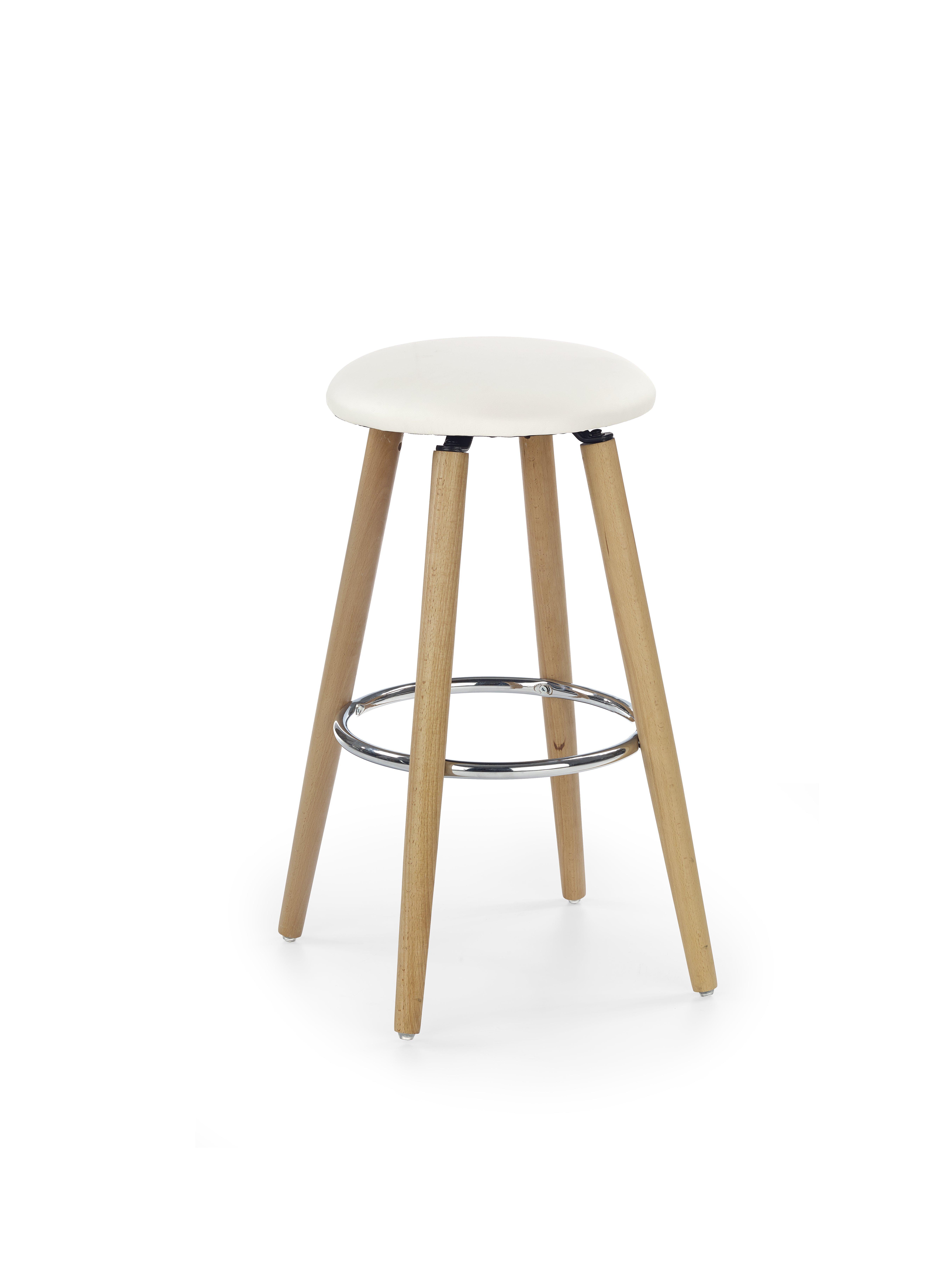 H76 barová stolička ekokoža krém