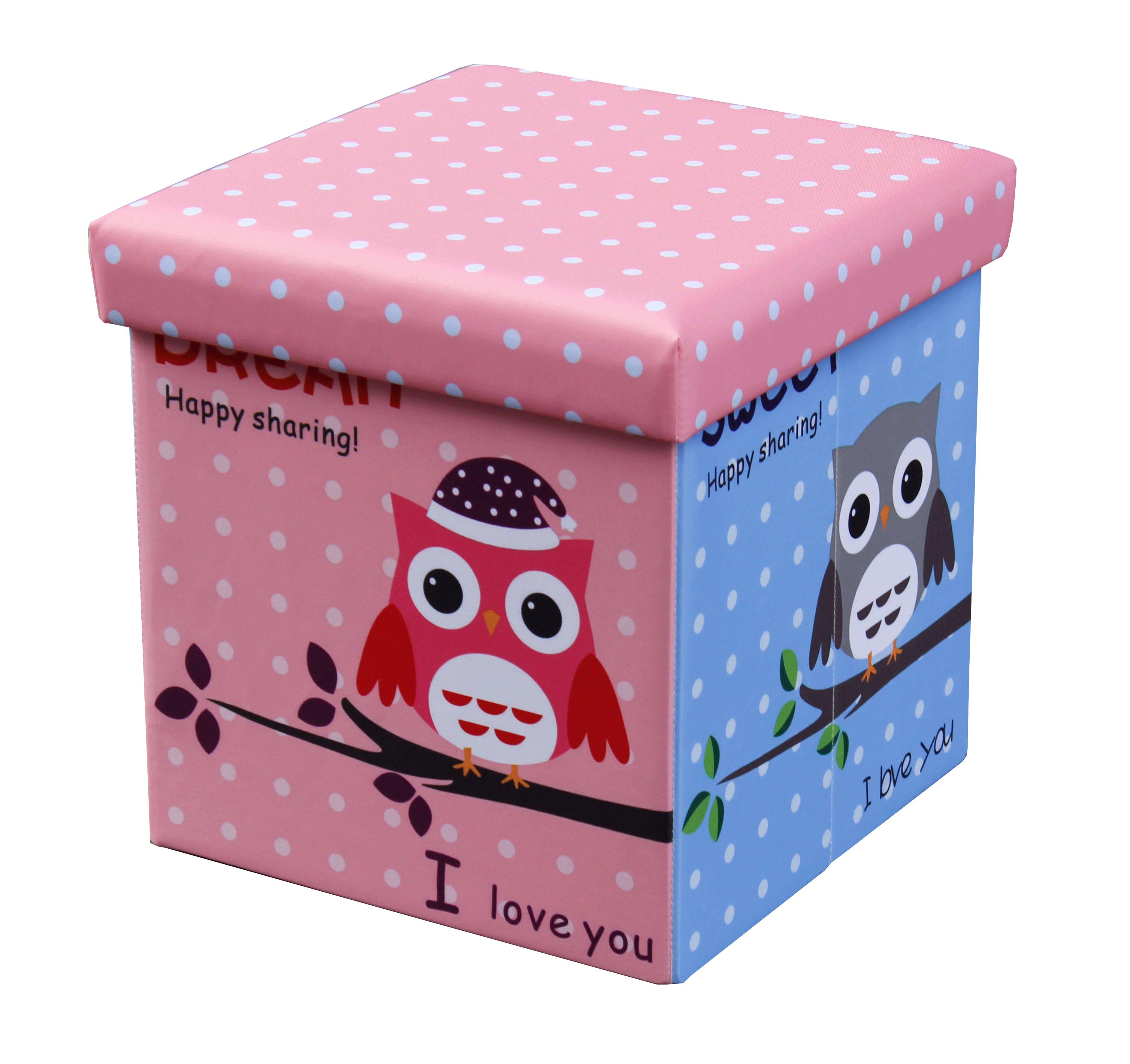 Skladacia MOLY OWL taburetka viacfarebná
