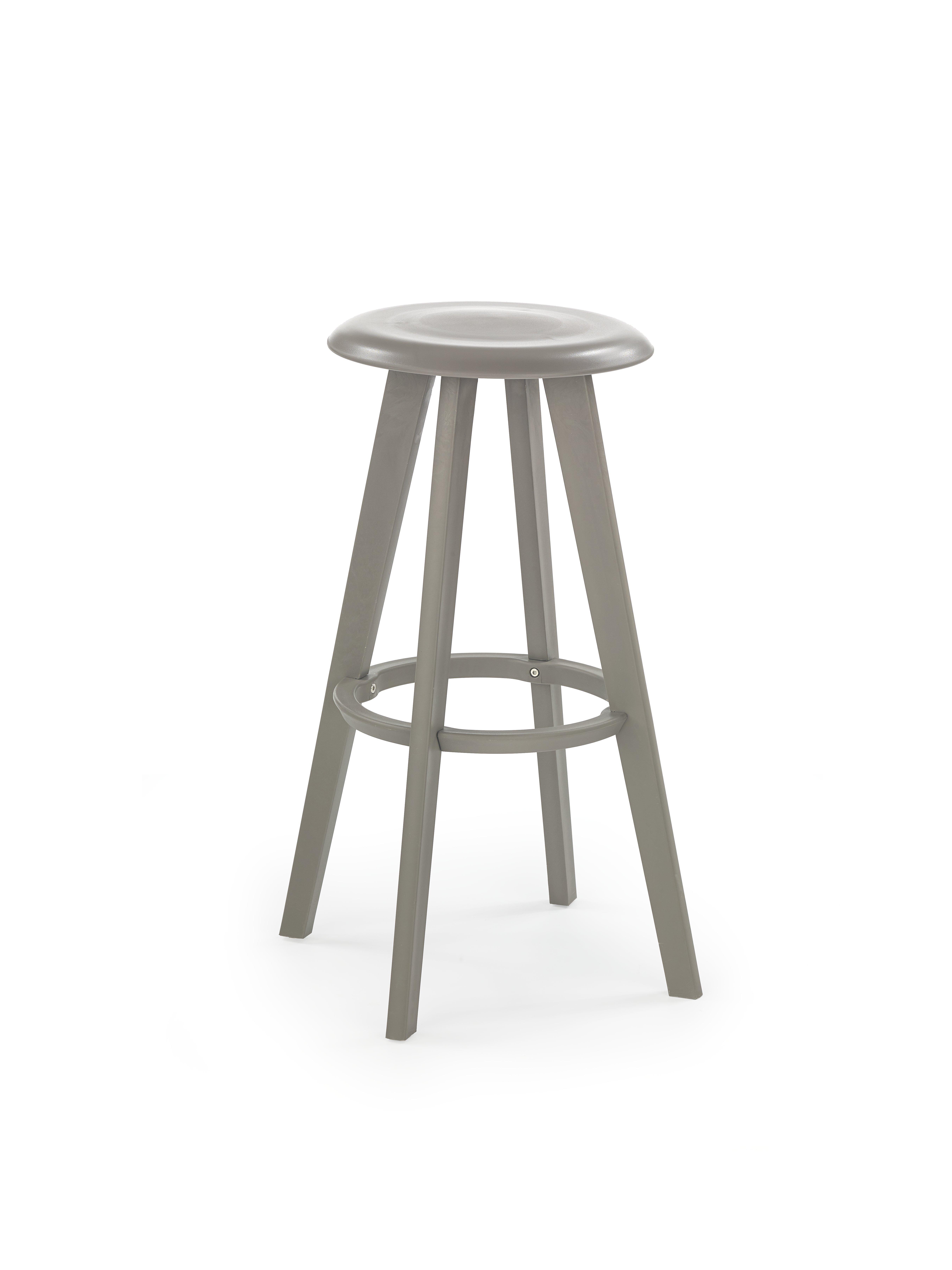 H77 barová stolička šedá