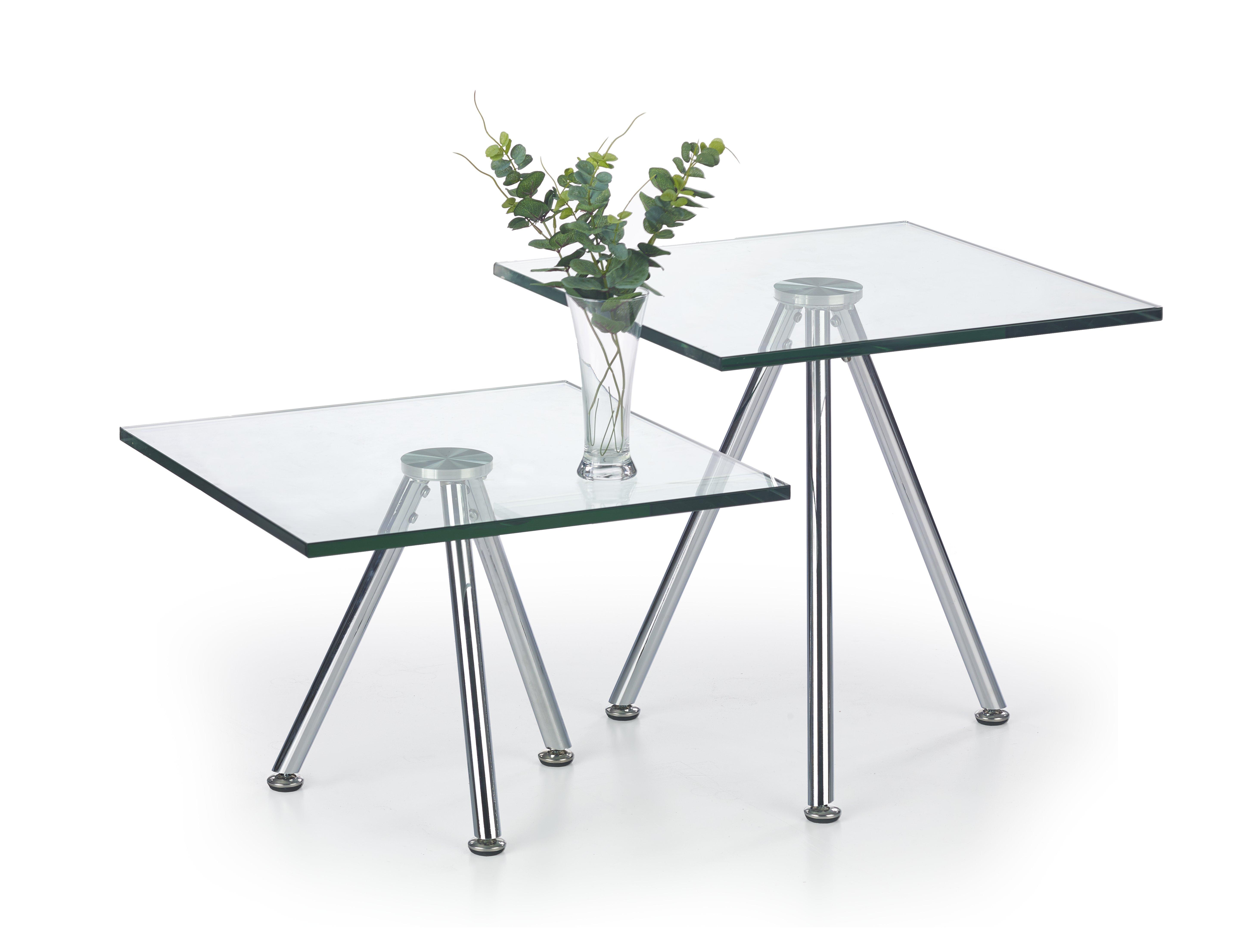 SOLO 2 konferenčný stolík bezfarebný