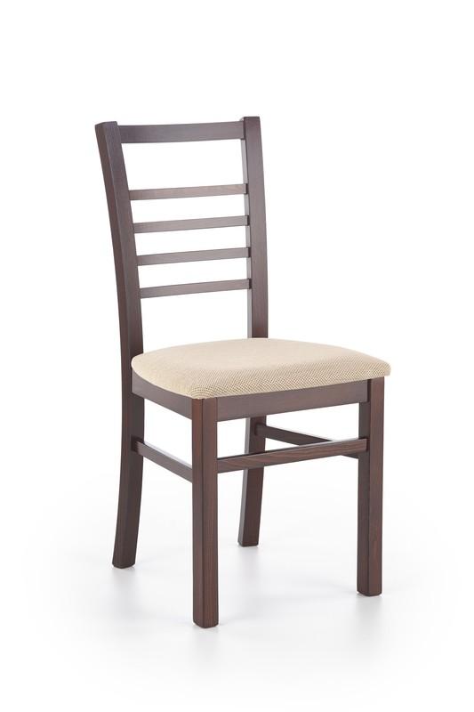 ADRIAN stolička tmavo orech / tap: Torent Beige