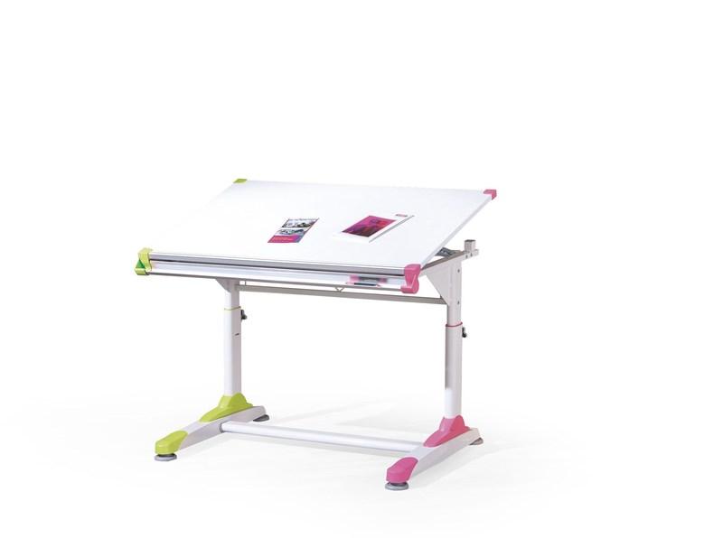 COLLORIDO PC stôl bielo-zeleno-ružový