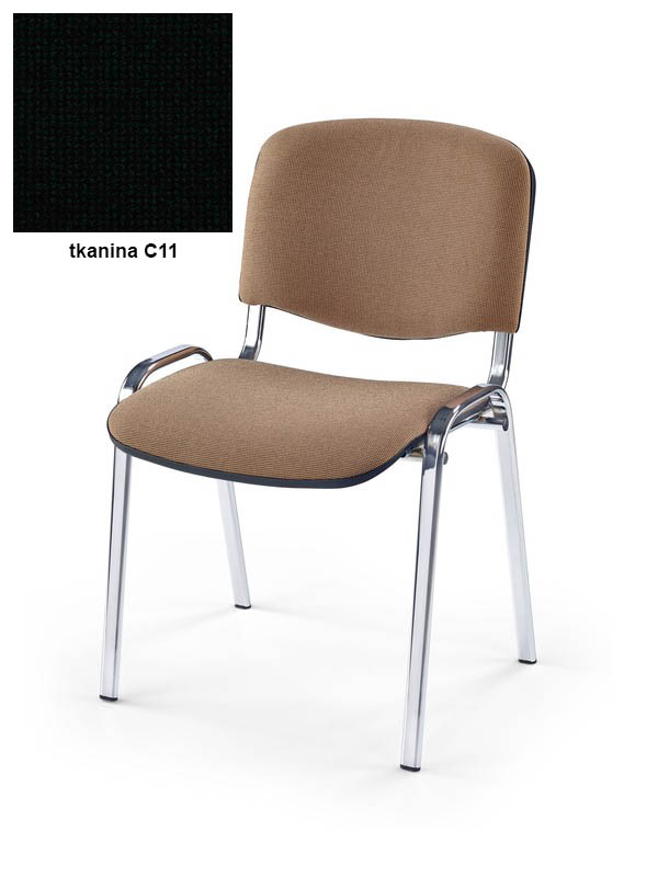 ISO stolička chróm/C11  čierna